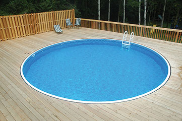 27′ Round 52″ Deep Rockwood Semi-Inground Pool Kit