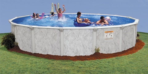 30′ Round 52″ Deep Silver Sea Above Ground Pool