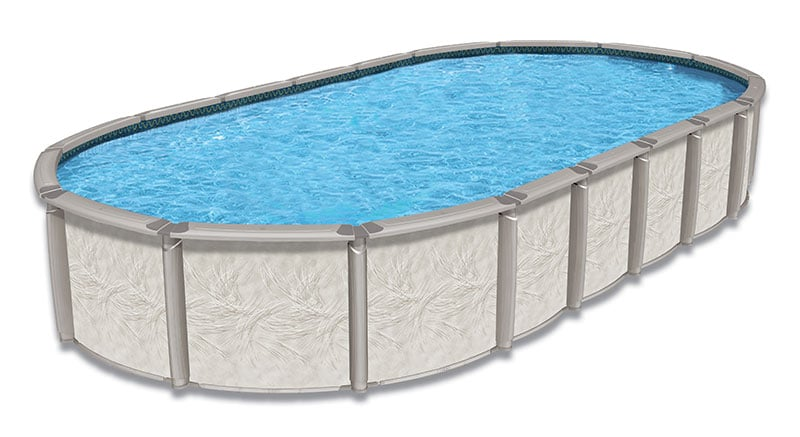 12′ x 23′ Oval 54″ Deep Deluxe Above Ground Pool Kit