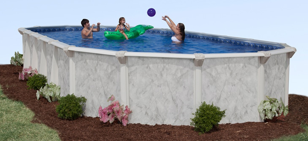 16′ x 32′ Oval 52″ Deep Silver Sea Above Ground Pool Kit