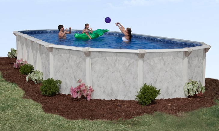 16′ x 32′ Oval 52″ Deep Sterling Bay Above Ground Pool Kit