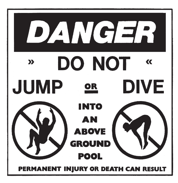 Above Ground Pool Sign