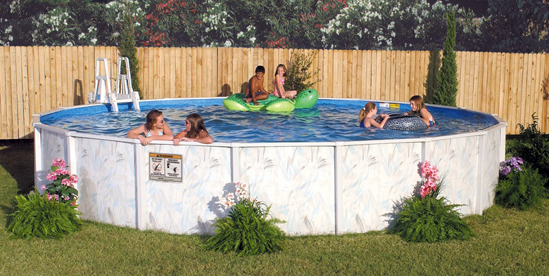 18′ Round 48″ Deep Riviera Above Ground Pool Kit
